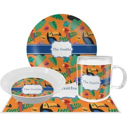 Toucans Dinner Set - 4 Pc (Personalized)
