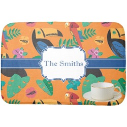 Toucans Dish Drying Mat (Personalized)