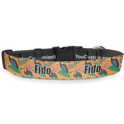 """Toucans Deluxe Dog Collar - Extra Large (16"""" to 27"""") (Personalized)"""