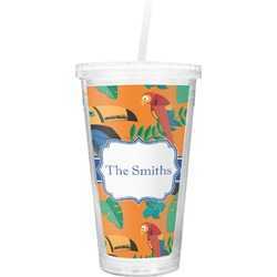 Toucans Double Wall Tumbler with Straw (Personalized)