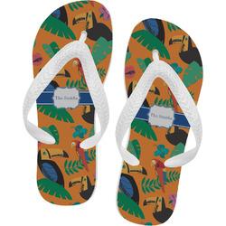 Toucans Flip Flops (Personalized)