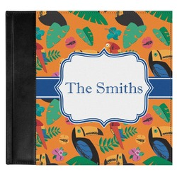 Toucans Genuine Leather Baby Memory Book (Personalized)