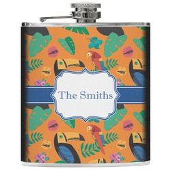 Toucans Genuine Leather Flask (Personalized)