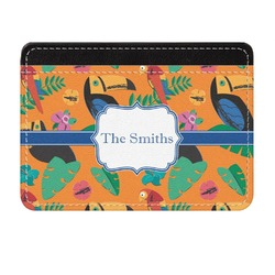 Toucans Genuine Leather Front Pocket Wallet (Personalized)