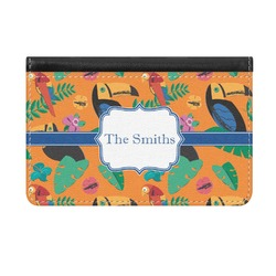 Toucans Genuine Leather ID & Card Wallet - Slim Style (Personalized)