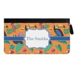 Toucans Genuine Leather Ladies Zippered Wallet (Personalized)