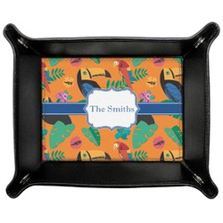 Toucans Genuine Leather Valet Tray (Personalized)