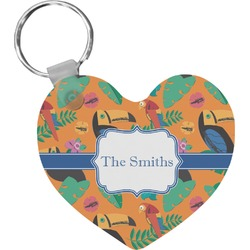 Toucans Heart Keychain (Personalized)