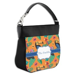 Toucans Hobo Purse w/ Genuine Leather Trim (Personalized)