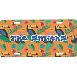 Toucans Front License Plate (Personalized)