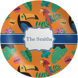 "Toucans Melamine Plate - 8"" (Personalized)"