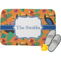 Toucans Memory Foam Bath Mat (Personalized)