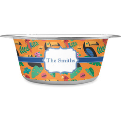 Toucans Stainless Steel Pet Bowl (Personalized)