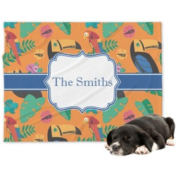 Toucans Minky Dog Blanket (Personalized)