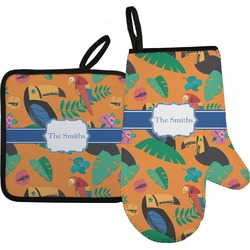 Toucans Oven Mitt & Pot Holder (Personalized)