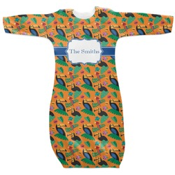Toucans Newborn Gown - 3-6 (Personalized)