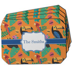 Toucans Dining Table Mat - Octagon w/ Name or Text