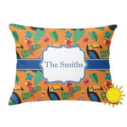 Toucans Outdoor Throw Pillow (Rectangular) (Personalized)