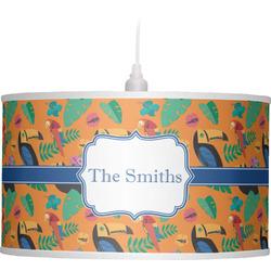 Toucans Drum Pendant Lamp (Personalized)