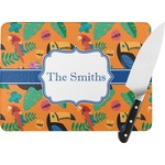 Toucans Rectangular Glass Cutting Board (Personalized)