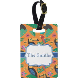 Toucans Rectangular Luggage Tag (Personalized)