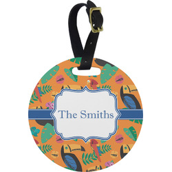 Toucans Round Luggage Tag (Personalized)
