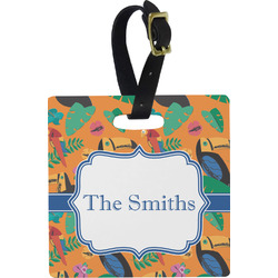 Toucans Square Luggage Tag (Personalized)
