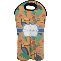 Toucans Wine Tote Bag (2 Bottles) (Personalized)