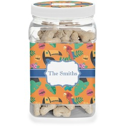 Toucans Dog Treat Jar (Personalized)
