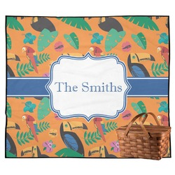 Toucans Outdoor Picnic Blanket (Personalized)