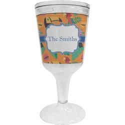Toucans Wine Tumbler - 11 oz Plastic (Personalized)