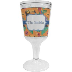 Toucans Wine Tumbler - 11 oz Plastic (Personalized)