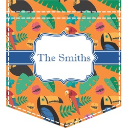 Toucans Iron On Faux Pocket (Personalized)