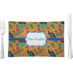 Toucans Rectangular Glass Lunch / Dinner Plate - Single or Set (Personalized)