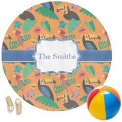 Toucans Round Beach Towel (Personalized)