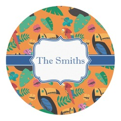 Toucans Round Decal (Personalized)