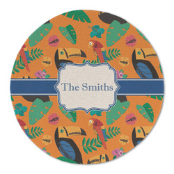 Toucans Round Linen Placemat (Personalized)