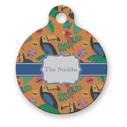 Toucans Round Pet Tag (Personalized)