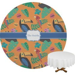 Toucans Round Tablecloth (Personalized)