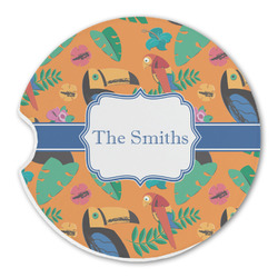 Toucans Sandstone Car Coasters (Personalized)