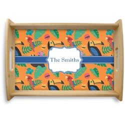 Toucans Natural Wooden Tray (Personalized)