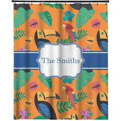 """Toucans Extra Long Shower Curtain - 70""""x84"""" (Personalized)"""