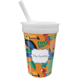 Toucans Sippy Cup with Straw (Personalized)