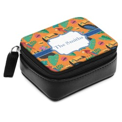 Toucans Small Leatherette Travel Pill Case (Personalized)