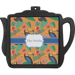 Toucans Teapot Trivet (Personalized)