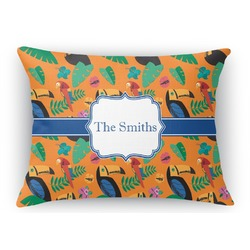Toucans Rectangular Throw Pillow Case (Personalized)