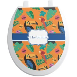 Toucans Toilet Seat Decal (Personalized)