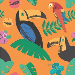 Toucans Wallpaper & Surface Covering