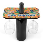 Toucans Wine Bottle & Glass Holder (Personalized)