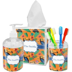 Toucans Acrylic Bathroom Accessories Set w/ Name or Text
